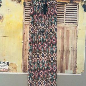 Aztec maxi with slit